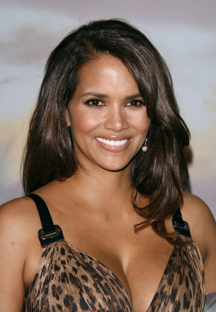 Halle appeared at a gala in 2008 wearing a shimmery bronze lip color that flattered her warm undertones.