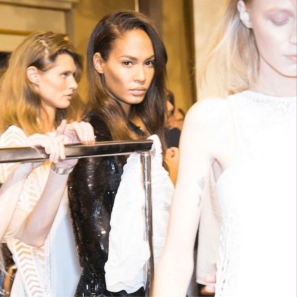 Joan Smalls looked forward (literally) to Paris Fashion Week. Source: Instagram user joansmalls