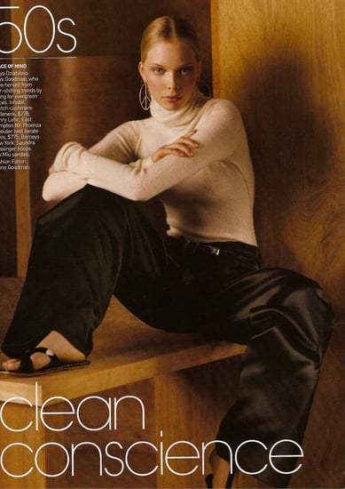 Tanya Dziahileva Takes on Tonne Goodman for Vogue August 2008