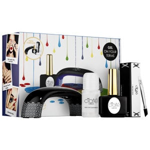 Ciaté Geltox Starter Kit ($99) is unique in that it professes to turn any polish into a gel manicure. Most kits require that you purchase not only the lamp and the tools necessary for the manicure, but also the base, color, and top coats within that brand's family to achieve optimal results.  Ciaté's option allows you to choose any brand of regular polish — from Essie to L'Oréal Paris and, of course, Ciaté — and turn it into a long-lasting, chip-free manicure. This is especially good news, since many of us have a favorite shade that hasn't been turned into a gel option. (Or at least hasn't yet.) The kit comes with the UV lamp, a cleanser to keep your regular polish primed and clean, a hoof stick, buffer, and the gel top coat.