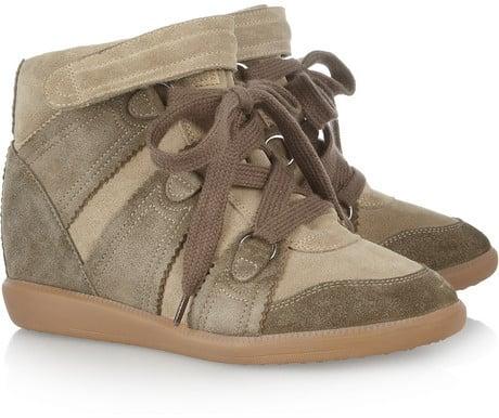 Isabel Marant Bluebel suede concealed wedge sneakers