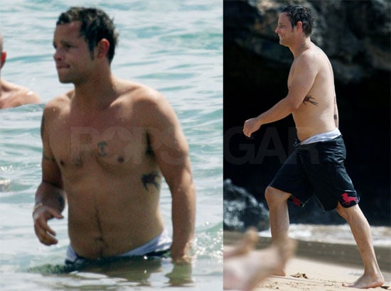 Photos of Shirtless Justin Chambers with Keisha at Beach in Hawaii