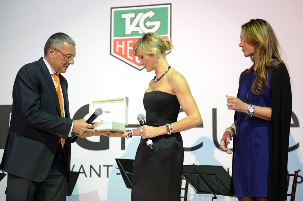 Cameron Diaz spoke about Tag Heuer watches.