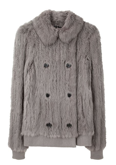 Joseph Rabbit Fur Coat ($825, originally $1650)