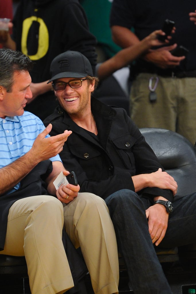 Tom Brady went to the Lakers game.