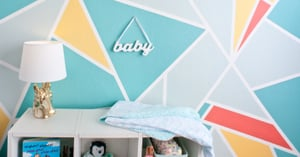 Welcome Baby Home With This DIY Feature Wall