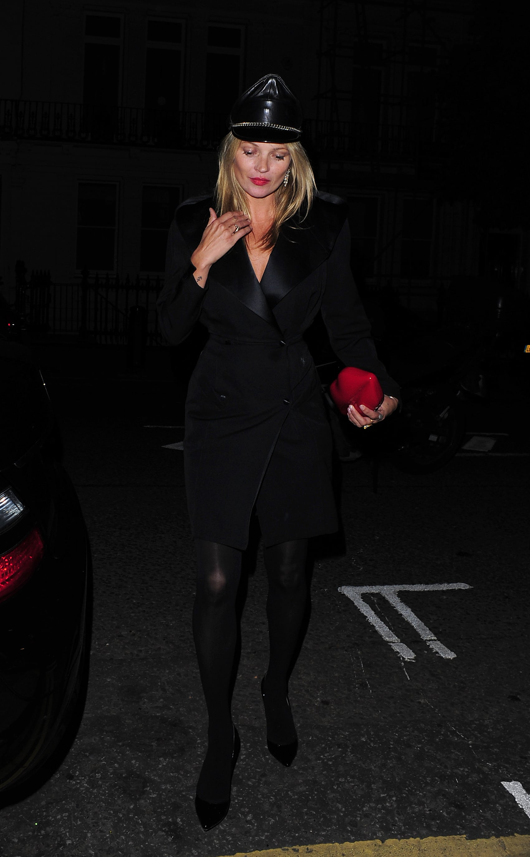 Kate Moss got dressed up for a costume party in honor of AnOther Magazine's anniversary.