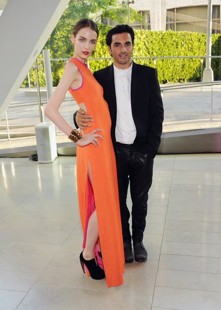 Zuzanna Bijoch, in custom Yigal Azrouel, with the designer