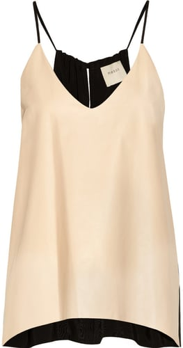 Mason by Michelle Mason Leather and crepe-jersey camisole