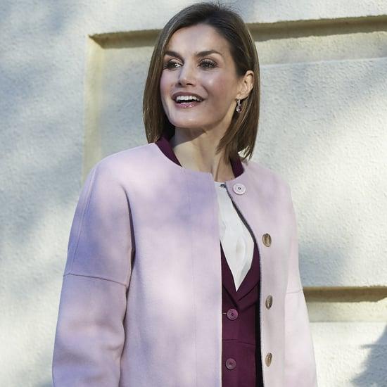 Queen Letizia in a Blush Coat
