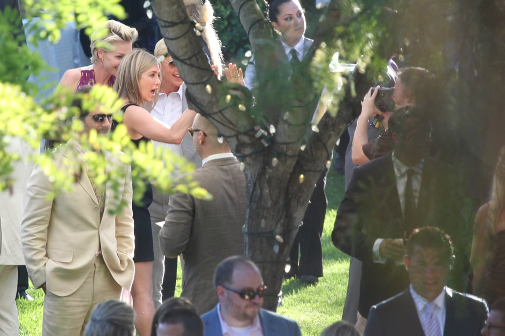 Jennifer Aniston, Ellen DeGeneres and Portia de Rossi filmed a message for Jimmy and Molly.