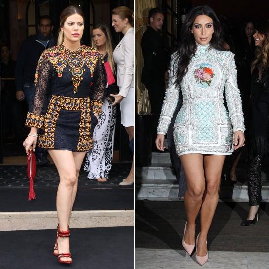 Kim Kardashian Khloe Kardashian Style Long Sleeve Mini Dress