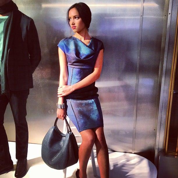 Elie Tahari provided the sleekest workwear.