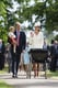 The couple waved to the crowd with Prince George as they made their way to daughter Charlotte's July 2015 christening.