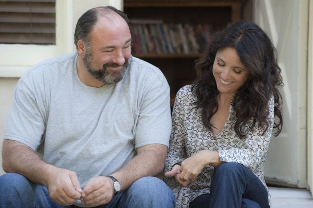 Enough Said In one of James Gandolfini's final roles, he plays a man romancing Julia Louis-Dreyfus's masseuse character, Eva. The catch is that Eva realizes that he's actually the ex-husband of her new friend and client (Catherine Keener), who's telling her all the downsides of her new boyfriend. The premise is pretty screwball, but the execution is wickedly funny, thanks to the script by director Nicole Holofcener — and the on-point delivery by Louis-Dreyfus. The movie is also relatable and has tons of heart, which largely comes from Gandolfini. It's a lovely way to say goodbye.