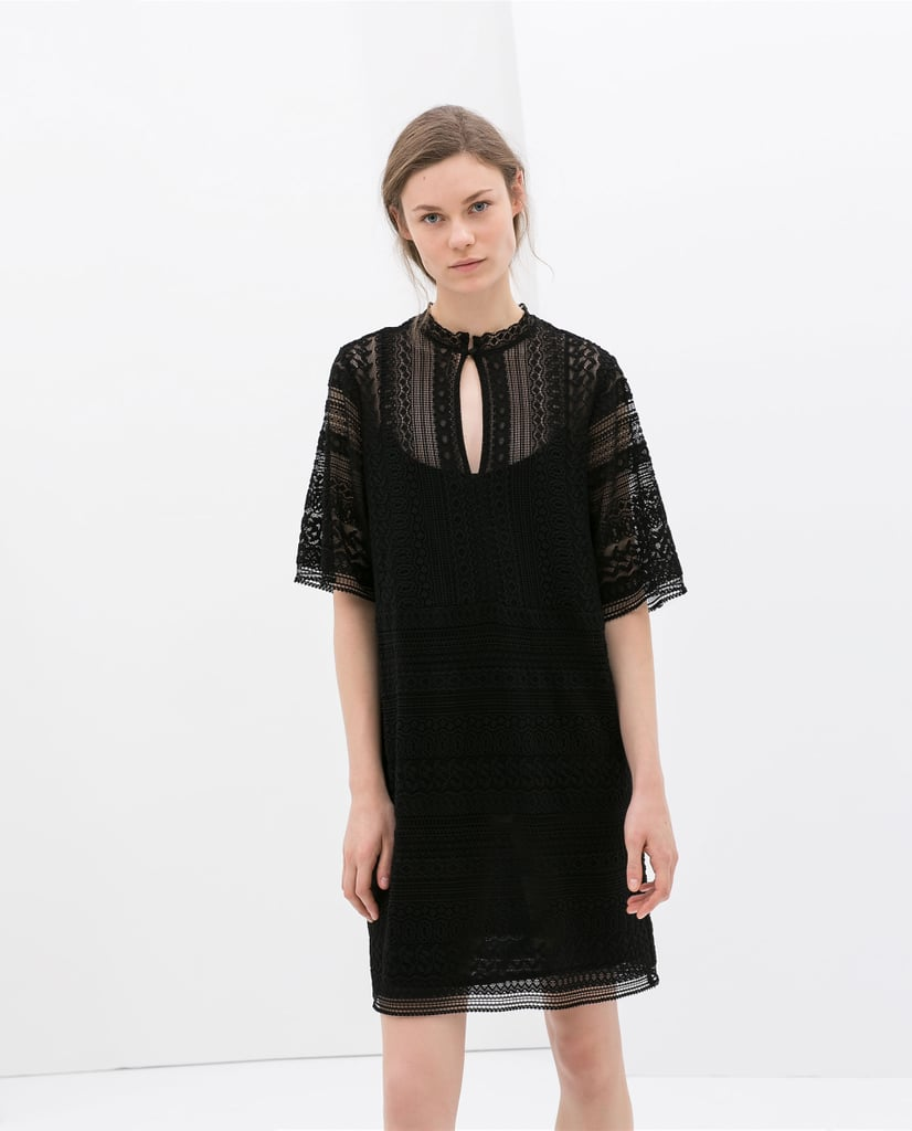 Zara Black Crochet Dress ($80)