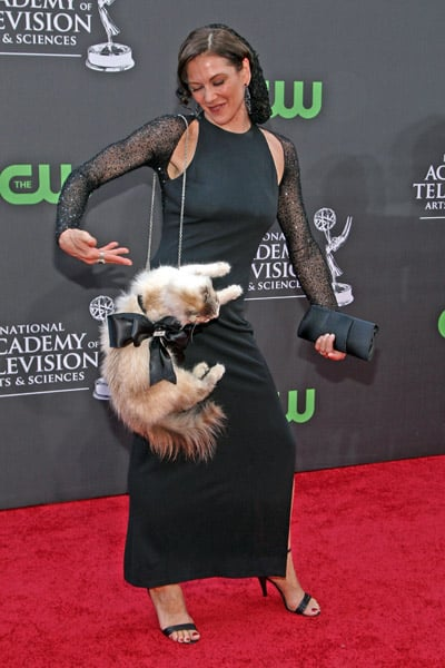 "Stacy Brings ""Kitty"" As Her Red Carpet Date To the 2009 Daytime Emmys"