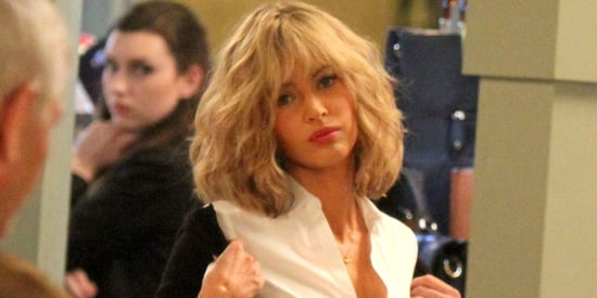 Megan Fox Channels Britney Spears' Schoolgirl Look In A Blond Wig