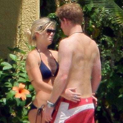 Prince Harry and Chelsy Davy on the Beach in Mauritius