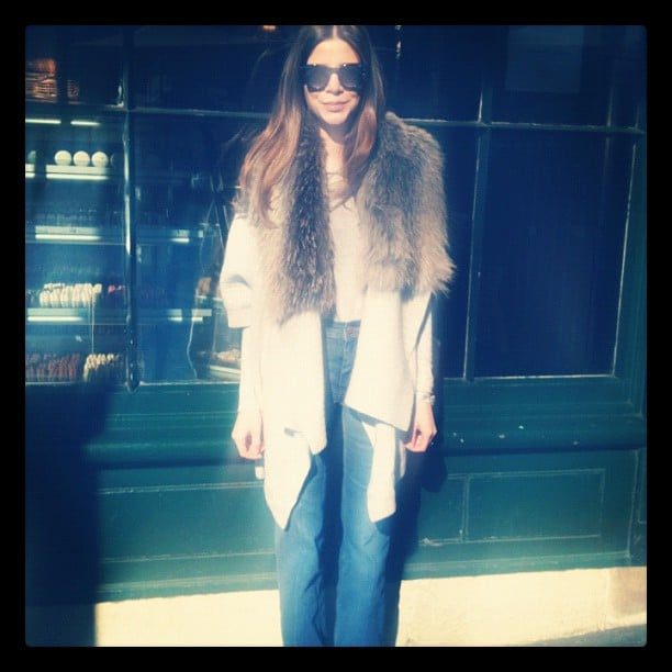 Gasparre Cashmere designer Rebecca McGeoch looking Winter-chic in Sydney.