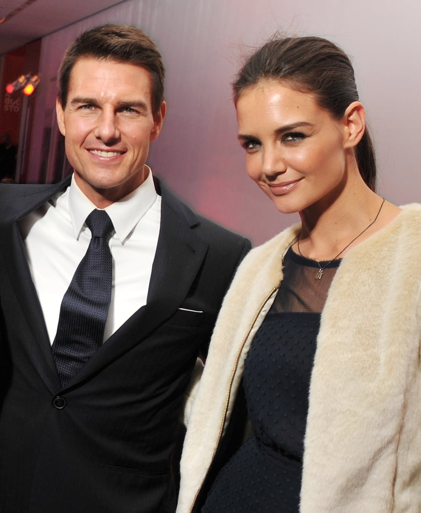 Katie Holmes and Tom Cruise smiled all night long in NYC.