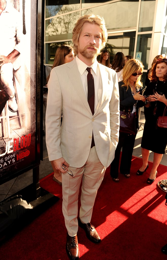 Todd Lowe suited up for the True Blood debut.