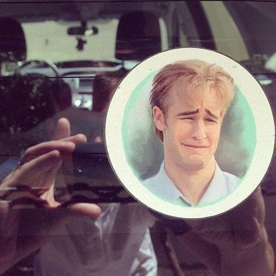 James Van Der Beek Sees His Face on a Bumper Sticker