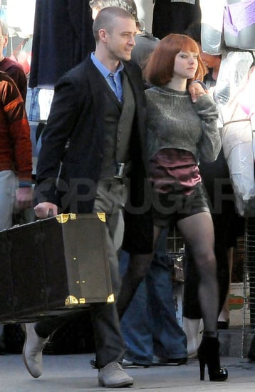 Pictures of Justin Timberlake and Amanda Seyfried on the Set of Now