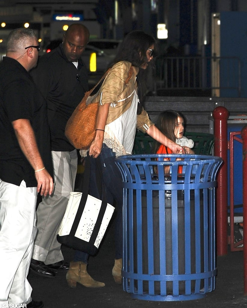 Katie Holmes and her daughter Suri Cruise were out in NYC.