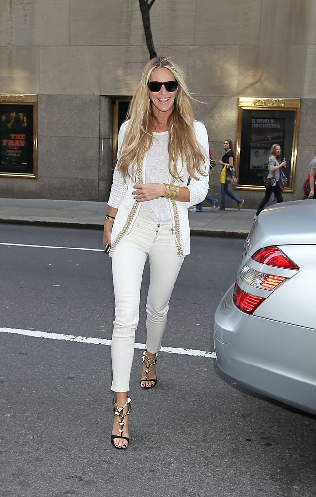 A cropped pair of skinnies are super chic on Elle.
