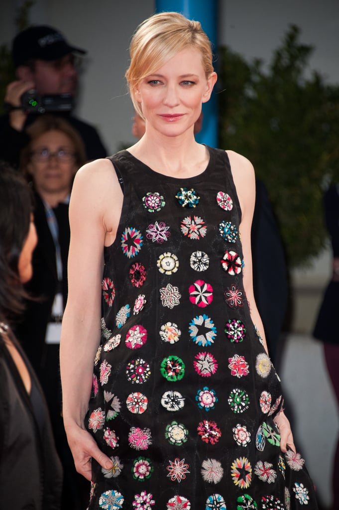 Cate Blanchett switched up her look for the Blue Jasmine premiere.