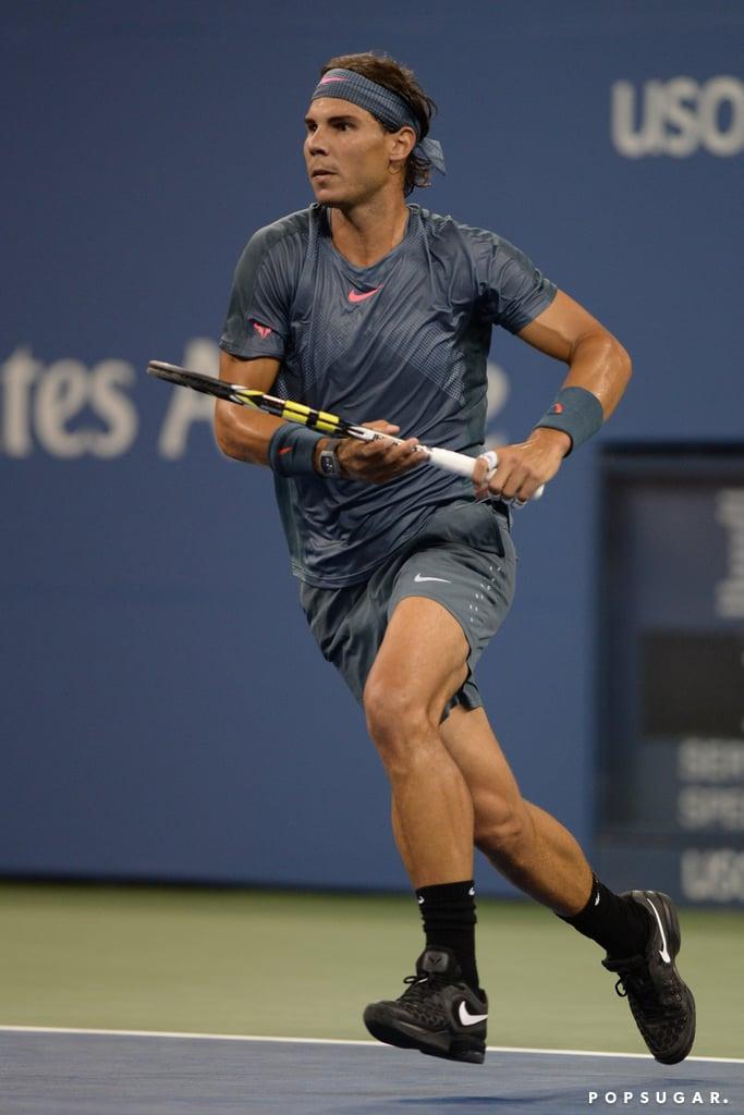 Rafael Nadal played a singles set.