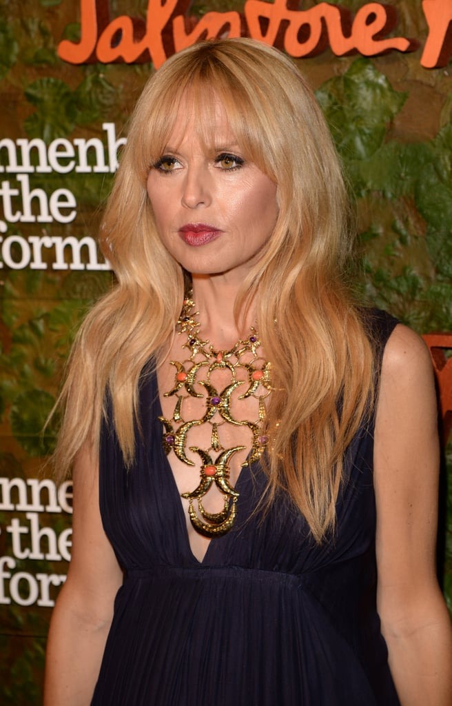 Rachel Zoe's beautiful waves and red lips are part of her signature look.