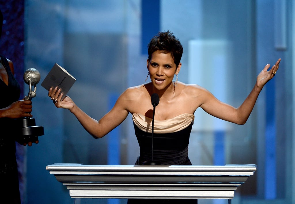 Halle Berry presented an award at the NAACP Image Awards in LA.