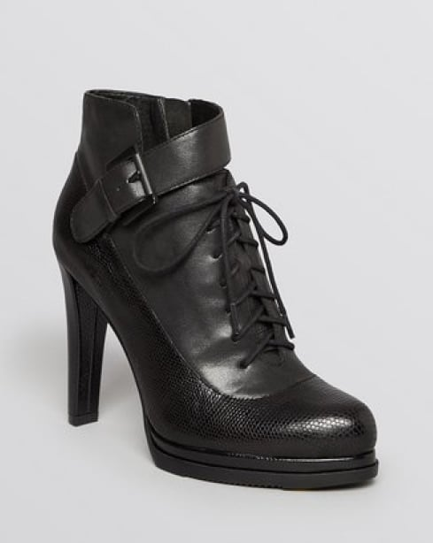 Lacing and a buckle give these