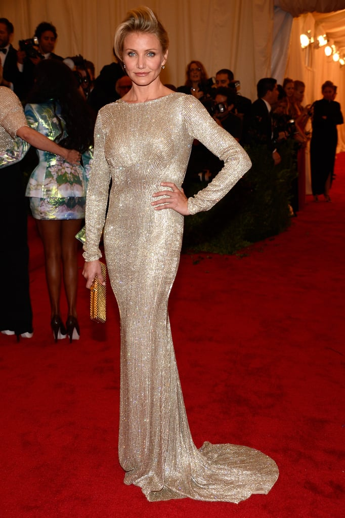 Cameron Diaz was a vision in a floor-length Stella McCartney.