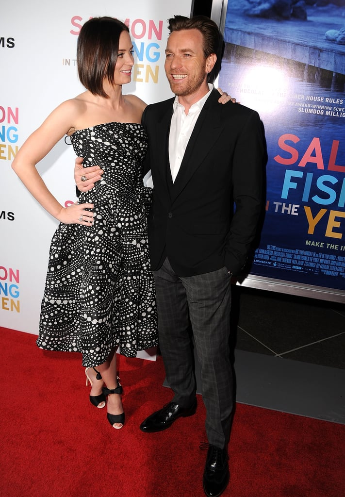 Emily Blunt and Ewan McGregor were arm in arm at her premiere.