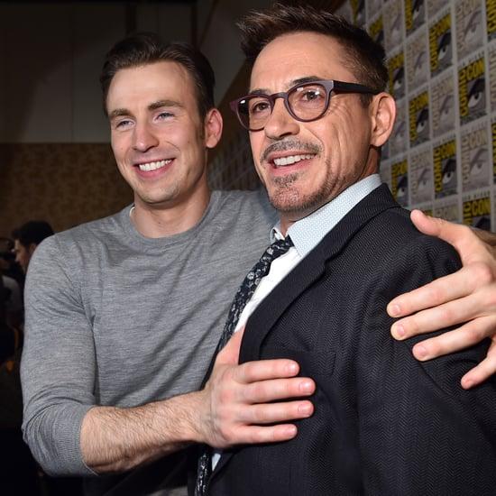 Robert Downey Jr., Ryan Reynolds, and Chris Evans Tweeting