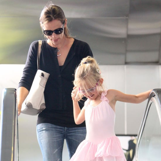 Jennifer Garner and Violet Affleck Going to Ballet Pictures