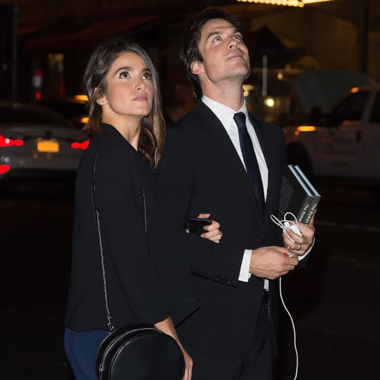 Nikki Reed Ian Somerhalder Look at Supermoon Pictures
