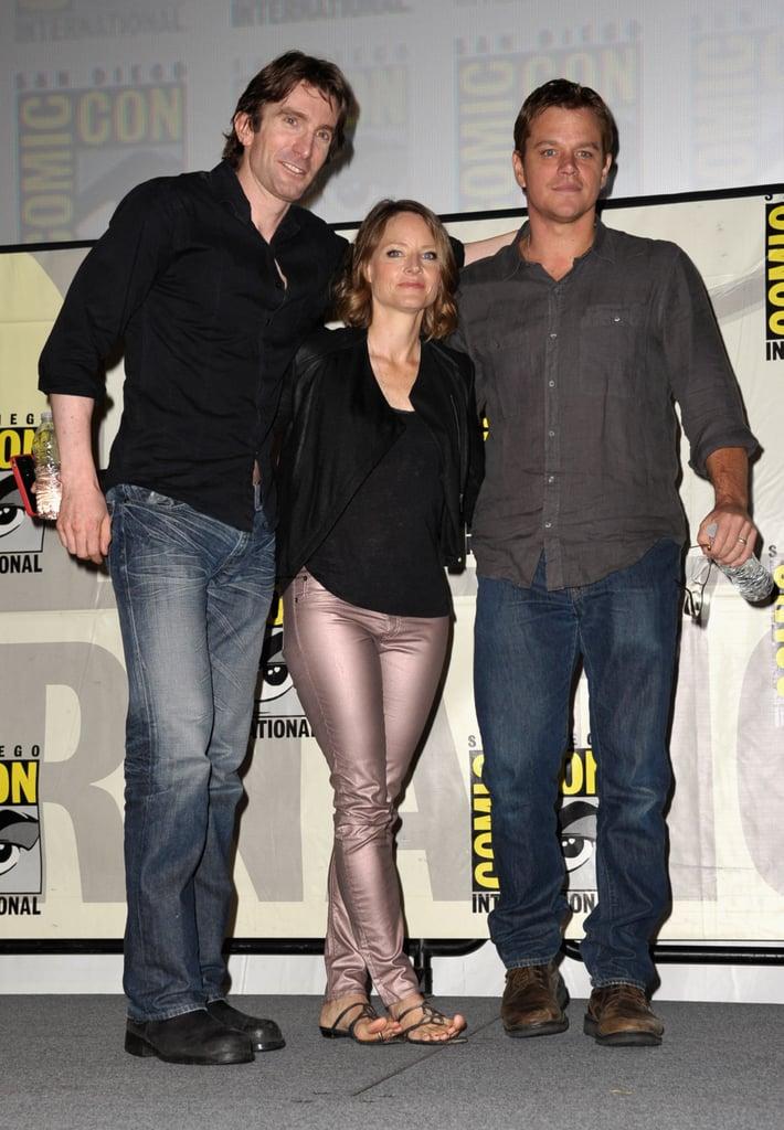 Sharto Copley, Jodie Foster, and Matt Damon posed.
