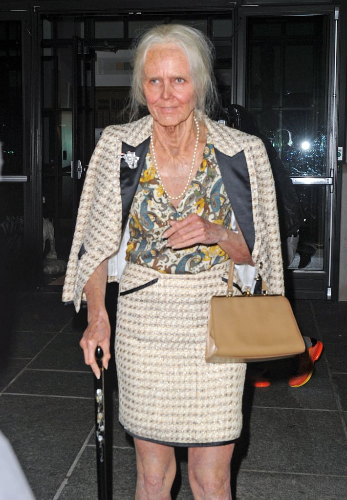 Heidi Klum was nearly unrecognizable as an old lady at her annual NYC Halloween party.
