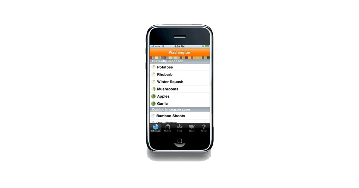 Locavore iphone app tells you what 39 s in season where you for App that tells you what is in a picture