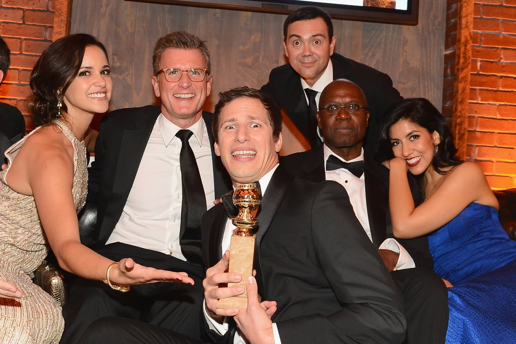 The Brooklyn Nine-Nine cast got silly with their 2015 Golden Globe at Fox and FX's after-party.