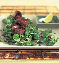 Fast & Easy Dinner: Beef With Onions and Watercress