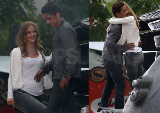 Pictures of Shia LaBeouf and Rosie Huntington-Whiteley Filming Transformers 3