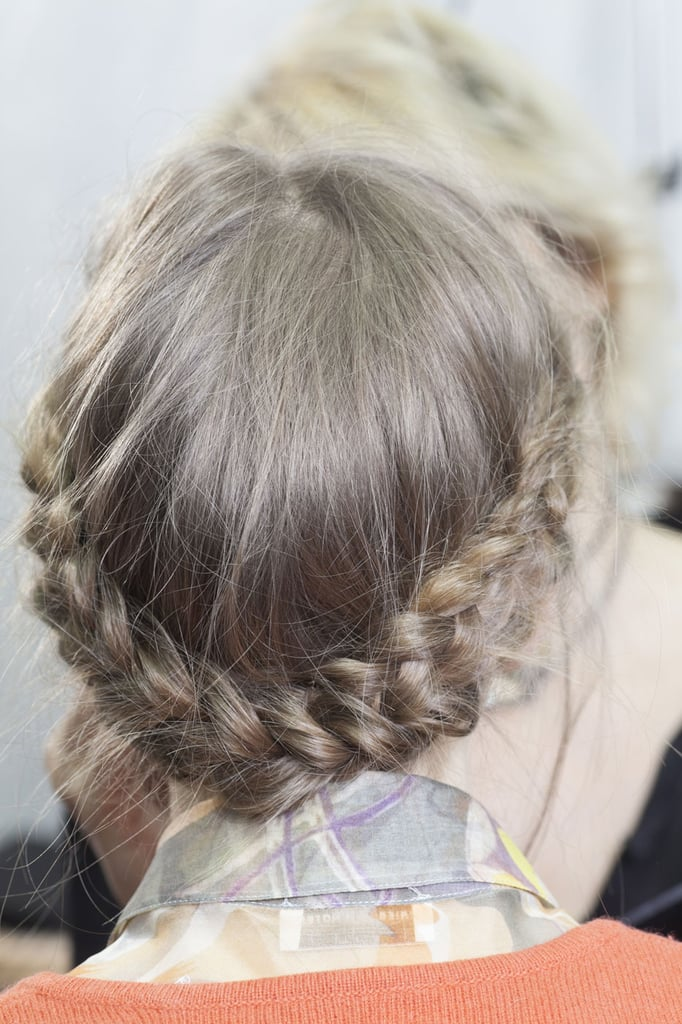 Braided hairstyles ruled the Fashion Month catwalks. However, it was this Viktor & Rolf braided updo that caught the fancy of our Pinterest followers as a favorite.