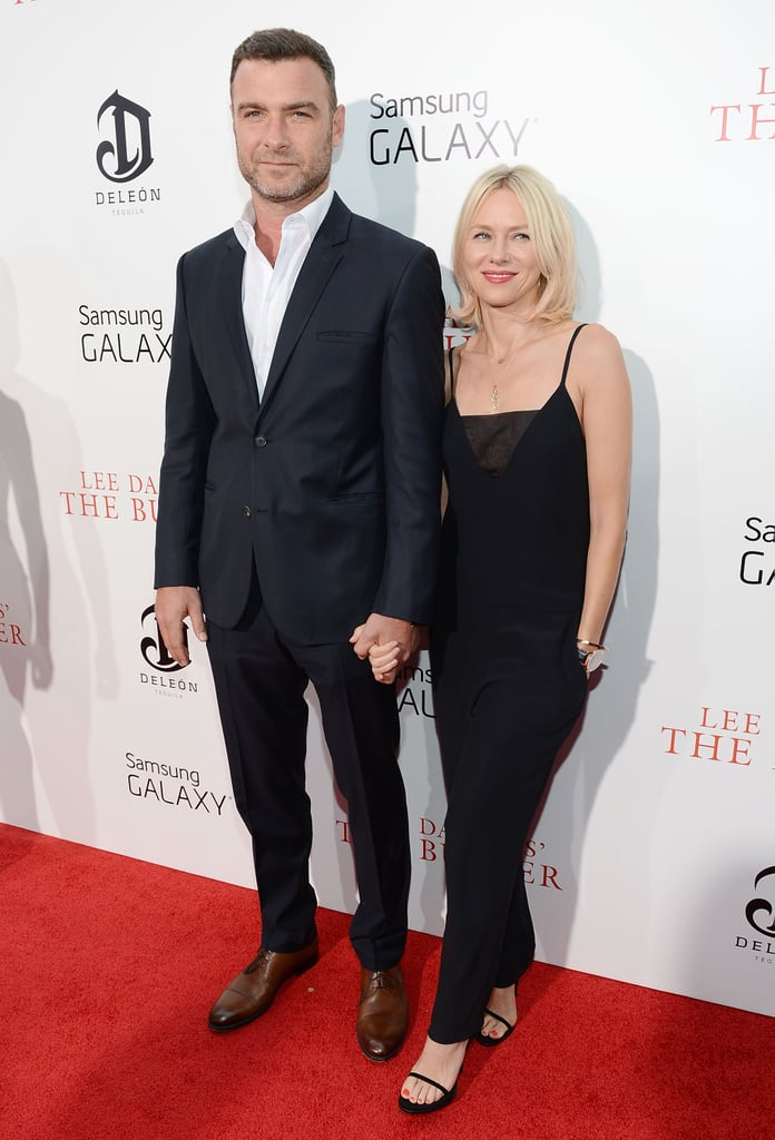 Naomi Watts and Liev Schreiber held hands on the red carpet.