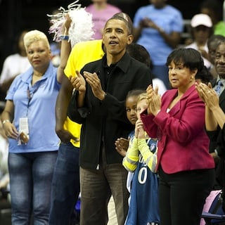 President Obama and Daughters' Basketball Games