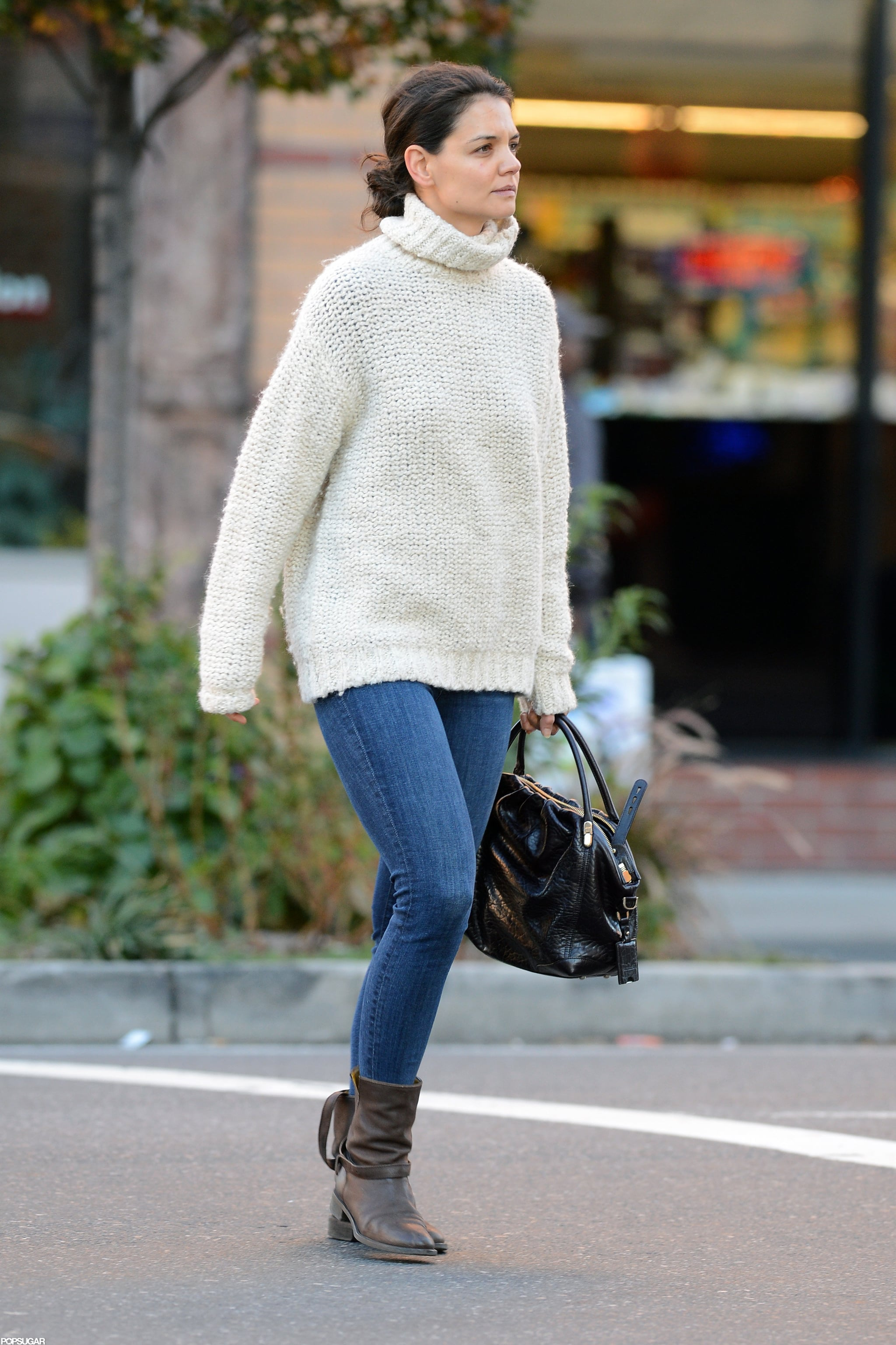 Katie Holmes stepped out in jeans in NYC.